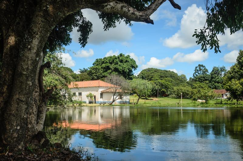 Typowy krajobraz wieś Brazylia zdjęcia stock
