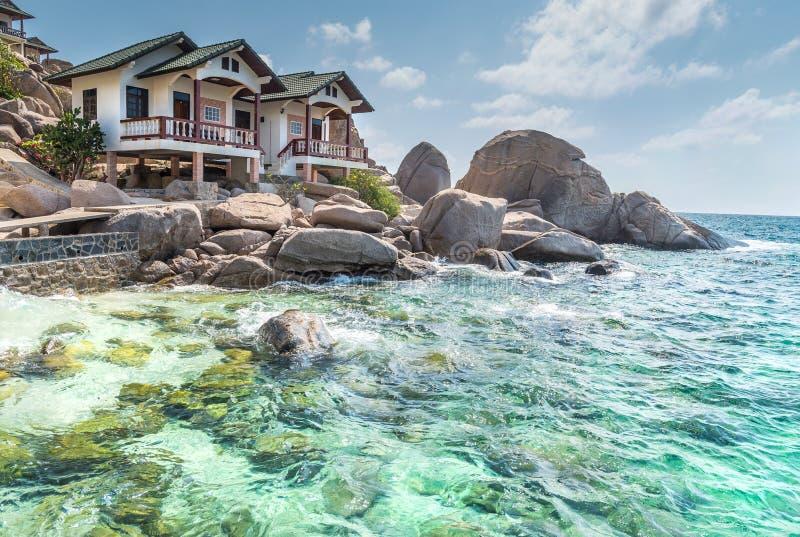 Typowy kurortu widok przy Koh Tao wyspą Tajlandia zdjęcie royalty free