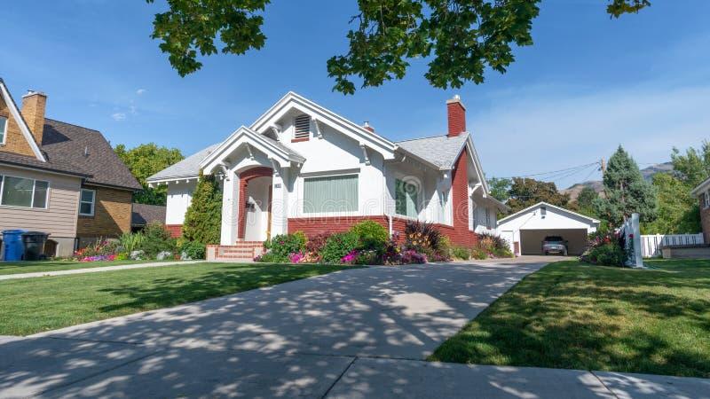 Typowy miastowy bungalow, Logan, Utah fotografia royalty free