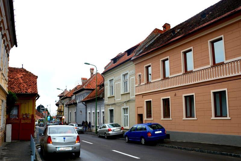 Typowy miastowy krajobraz w Brasov, Transylvania obraz royalty free