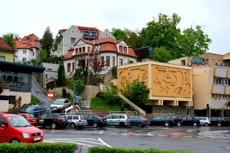 Typowy miastowy krajobraz w Brasov, Transylvania zdjęcia royalty free