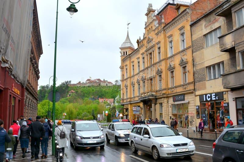 Typowy miastowy krajobraz w Brasov, Transylvania fotografia royalty free