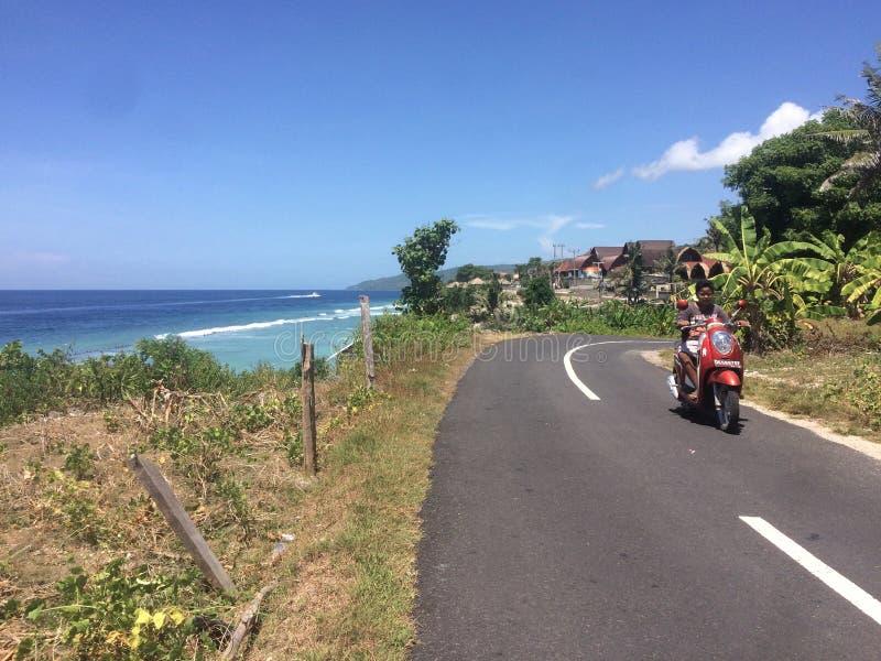 Typowy Nusa Penida linii brzegowej widok zdjęcia royalty free