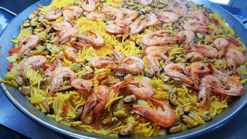 Typowy paella od Hiszpania zdjęcia stock