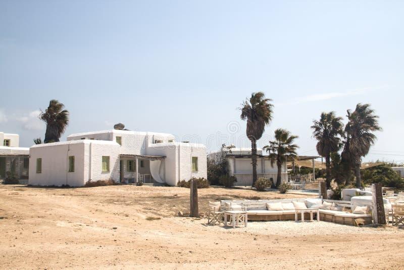 Typowy pensjonat na Antiparos, Grecja obraz royalty free