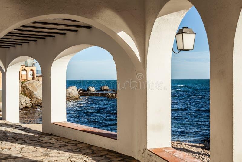 Costa Brava przejście zdjęcie stock