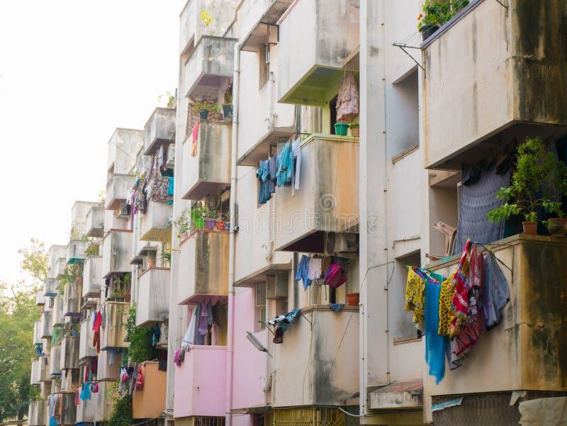 Typowy sąsiedztwo w Chennai obraz royalty free