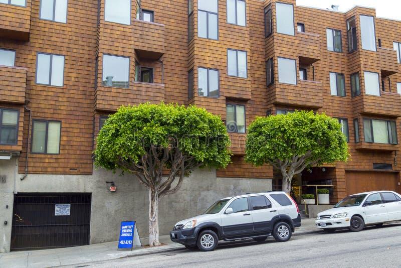 Typowy San Fransisco górkowaty sąsiedztwo, Kalifornia, usa fotografia stock