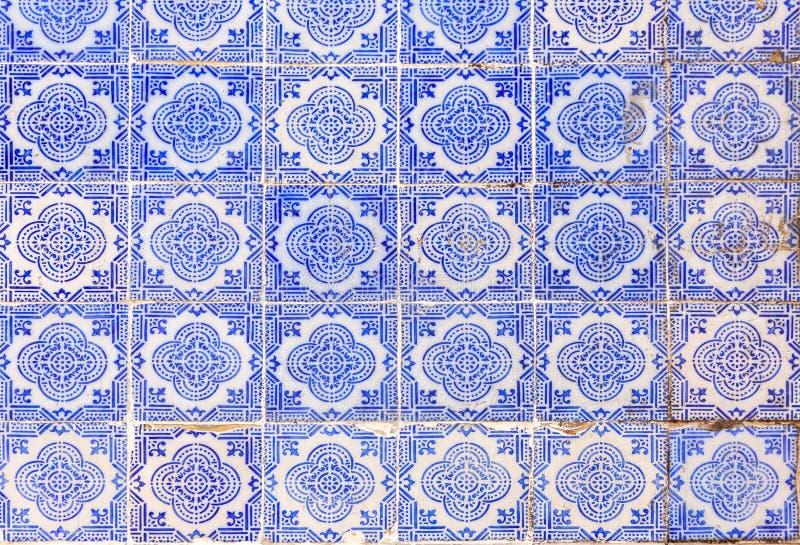 Typowy stary malujący glazurujący ceramiczny tilework Azulejo obraz royalty free