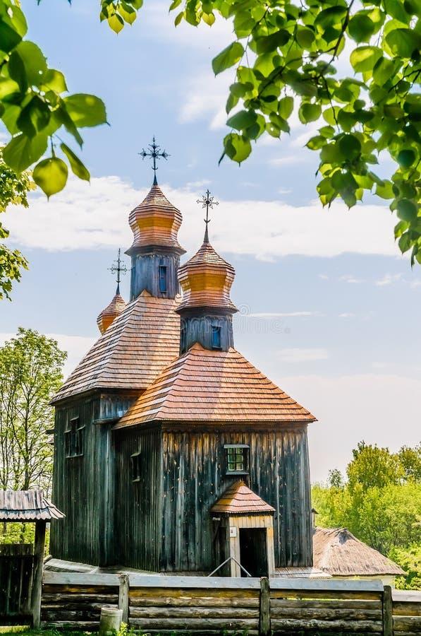 Typowy ukraiński antykwarski ortodoksyjny kościół obrazy royalty free