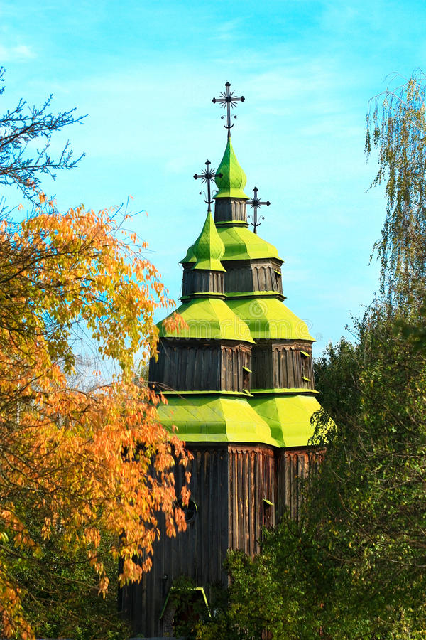 Typowy Ukraiński kościół fotografia royalty free