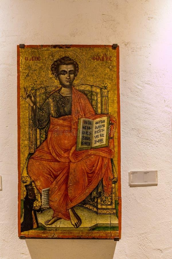 Typowy widok w tradycyjnej wiosce Omodos w Cypr fotografia royalty free