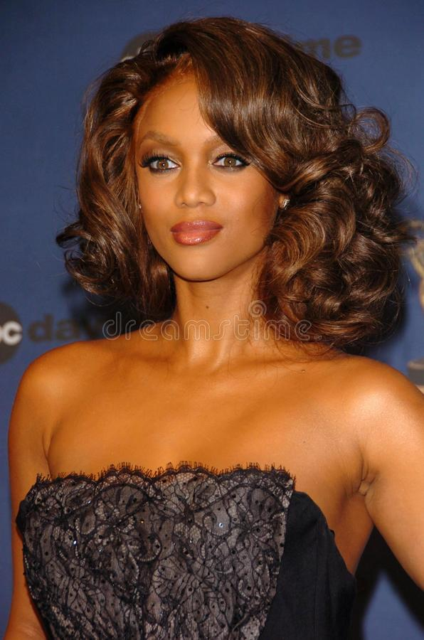 Tyra Banks. In the press room at The 33rd Annual Daytime Emmy Awards. Kodak Theatre, Hollywood, CA. 04-28-06 stock images
