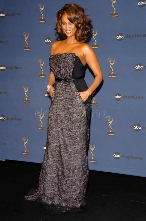 Tyra Banks. In the press room at The 33rd Annual Daytime Emmy Awards. Kodak Theatre, Hollywood, CA. 04-28-06 royalty free stock image