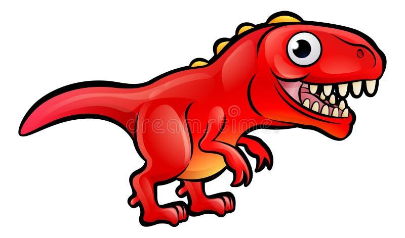Tyrannosarie Rex Dinosaur Cartoon Character stock illustrationer