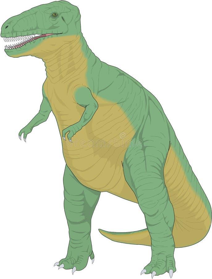 Tyrannosarie Rex Dinosaur Illustration vektor illustrationer