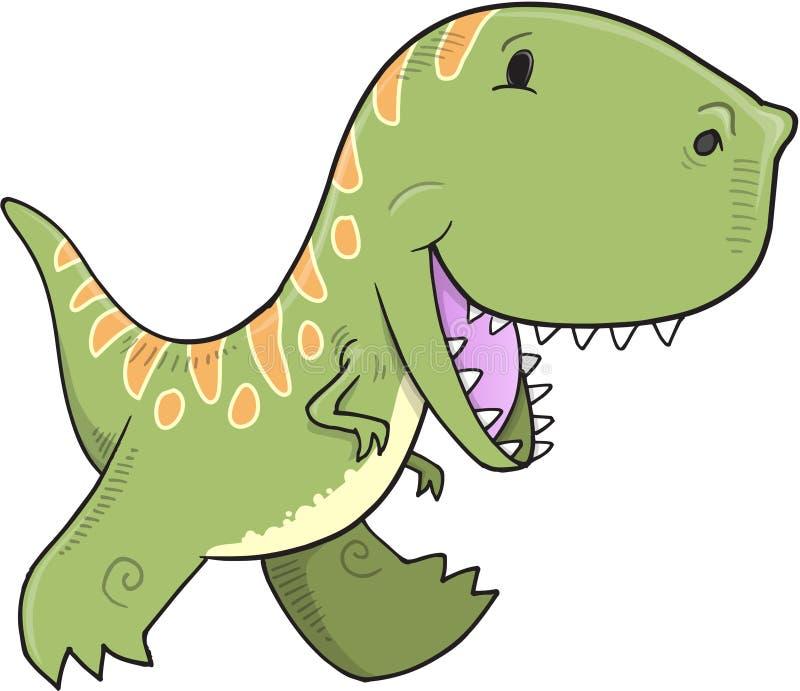 Tyrannosariedinosaurievektor stock illustrationer