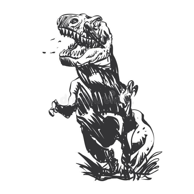 Tyrannosaure peint à la main illustration stock