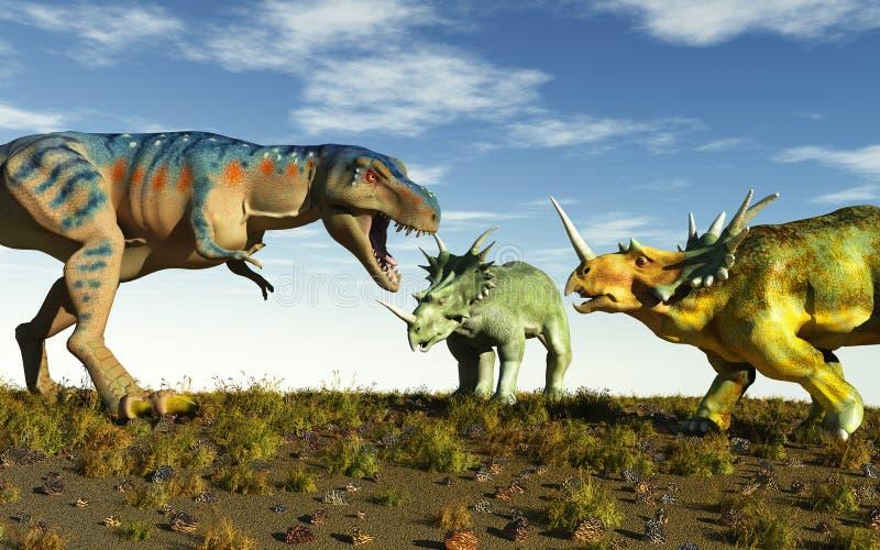 Tyrannosaurus illustration stock