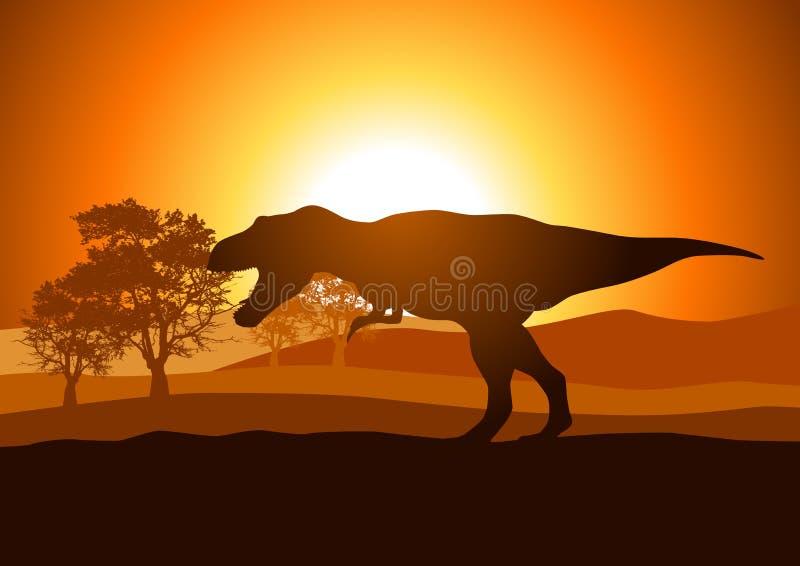 Tyrannosaurus stock de ilustración