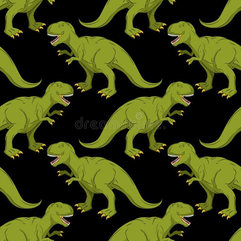 Tyrannosaurus bezszwowy wzór ilustracja wektor