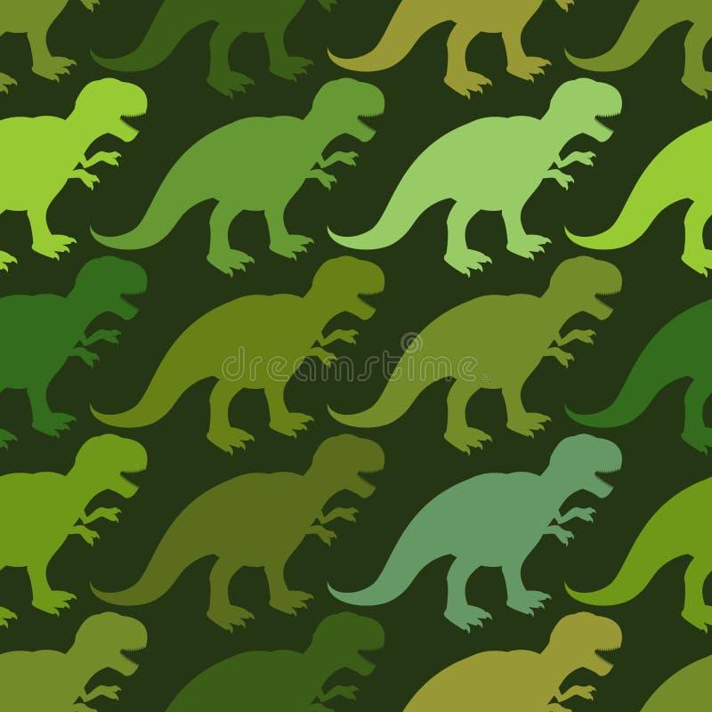 Tyrannosaurus bezszwowy wzór ilustracji