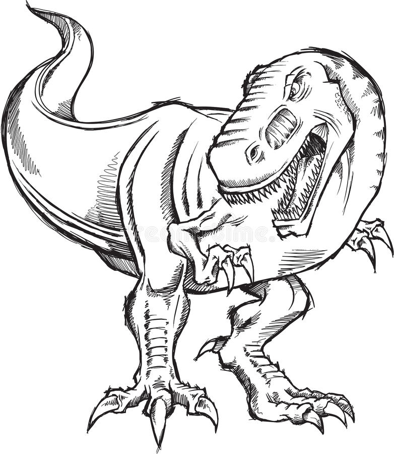 Download Tyrannosaurus Dinosaur Sketch Doodle Royalty Free Stock Photo - Image: 22494025