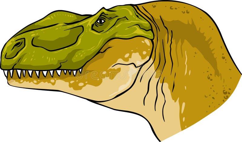 Tyrannosaurus dinosaura kierownicza naturalna okrutnie skamielina royalty ilustracja