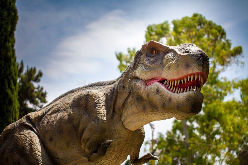Tyrannosaurus dinosaurs monster reptile hunting in the forest. Tyrannosaurus dinosaurs monster reptile hunting stock images