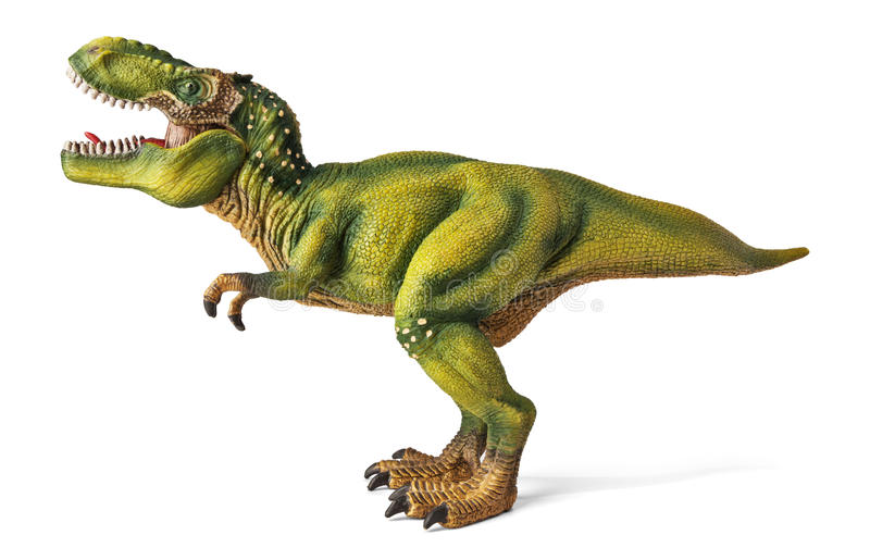 Tyrannosaurus, dinosaurs toy with clipping path. royalty free stock photos