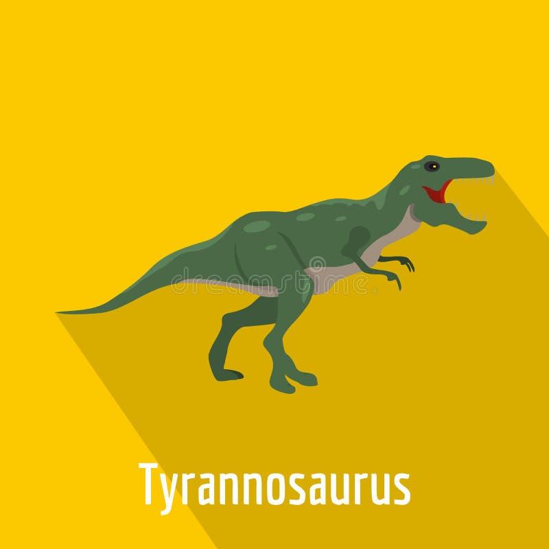 Tyrannosaurus icon, flat style. stock illustration