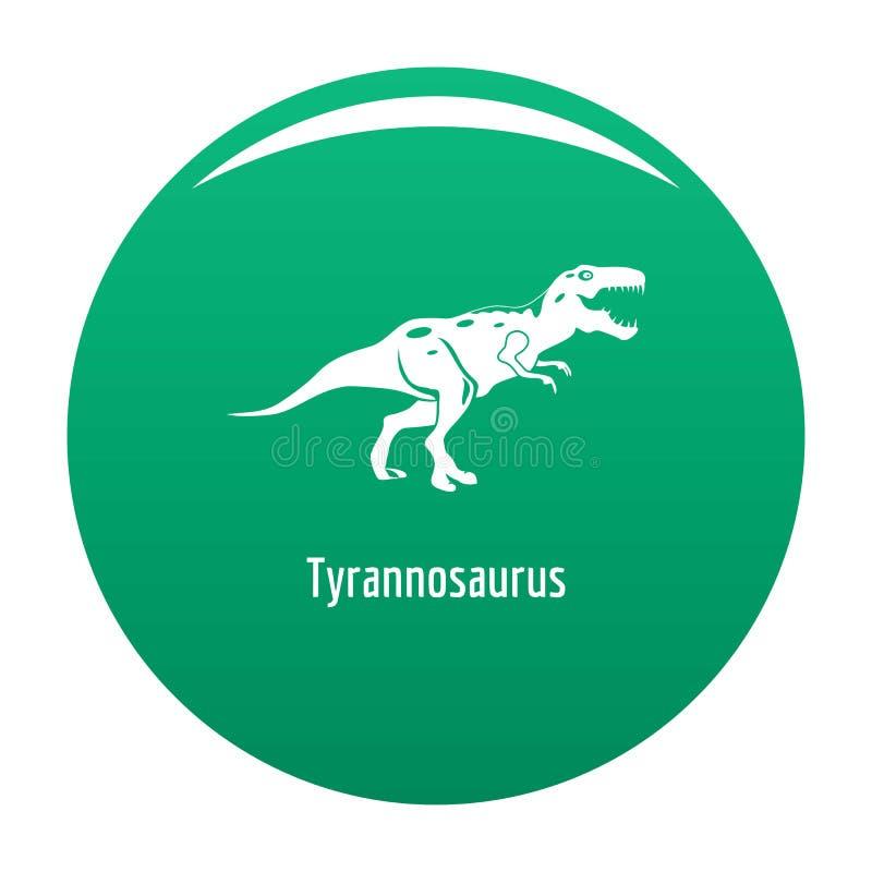 Tyrannosaurus icon green vector illustration