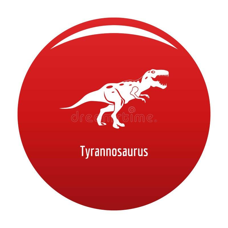 Tyrannosaurus icon vector red royalty free illustration