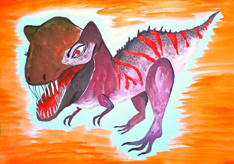 tyrannosaurus Illustration fabriquée à la main pour des T-shirts, affiches, textiles illustration de vecteur