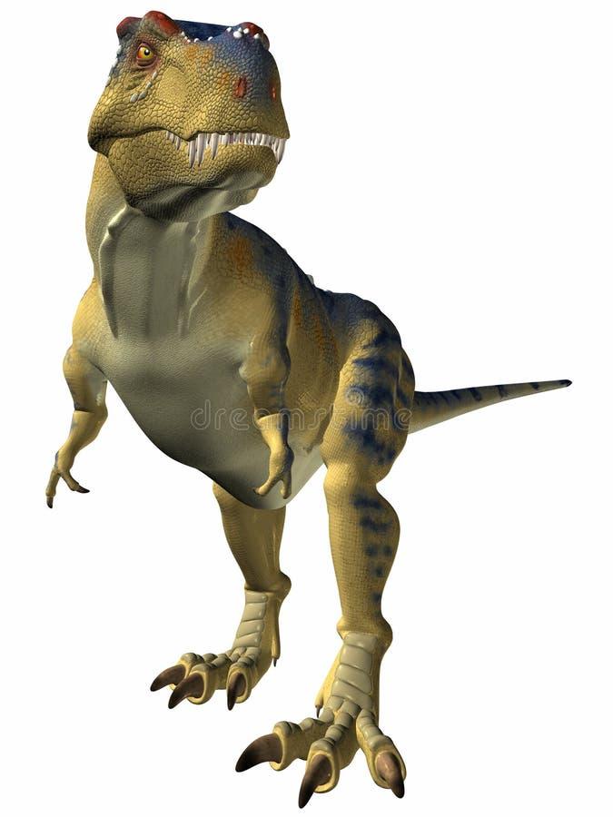 tyrannosaurus ostrzegania ilustracji