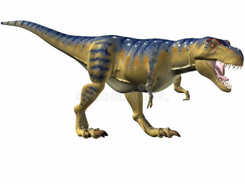 tyrannosaurus połowów royalty ilustracja