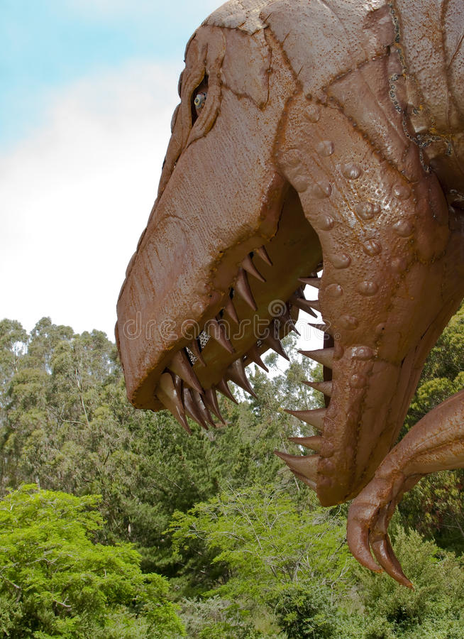 Download Tyrannosaurus Rex stock image. Image of head, dino, fangs - 10902873