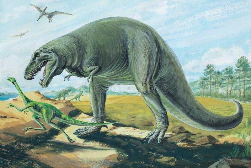 Tyrannosaurus Rex royalty-vrije illustratie