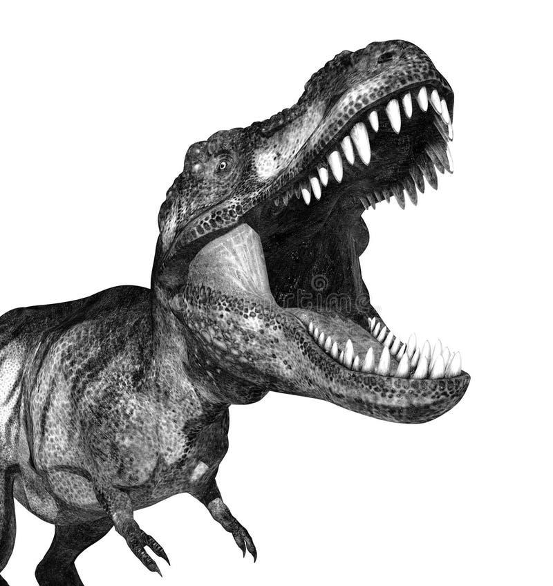 Tyrannosaurus Rex Attacking vector illustratie