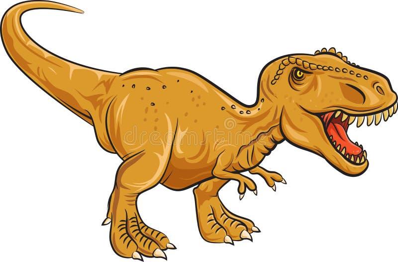 Tyrannosaurus Rex charakter odizolowywający na białym tle royalty ilustracja