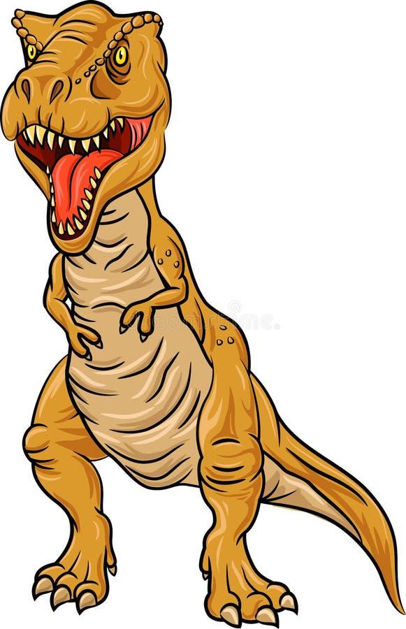Tyrannosaurus Rex charakter odizolowywający na białym tle ilustracji