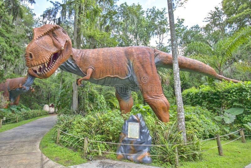 Tyrannosaurus Rex at Dinosaur World. A giant Tyrannosaurus Rex replica at Dinosaur World in Florida royalty free stock photo