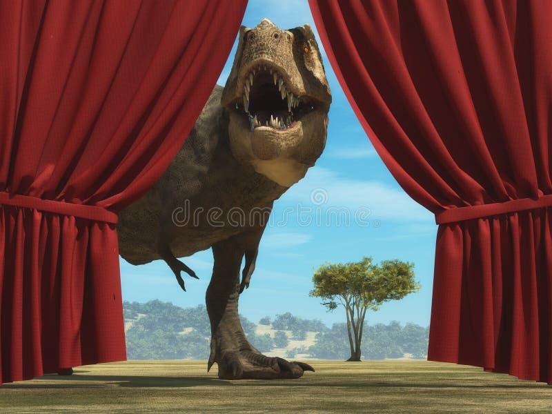 Tyrannosaurus Rex in the jungle stock illustration