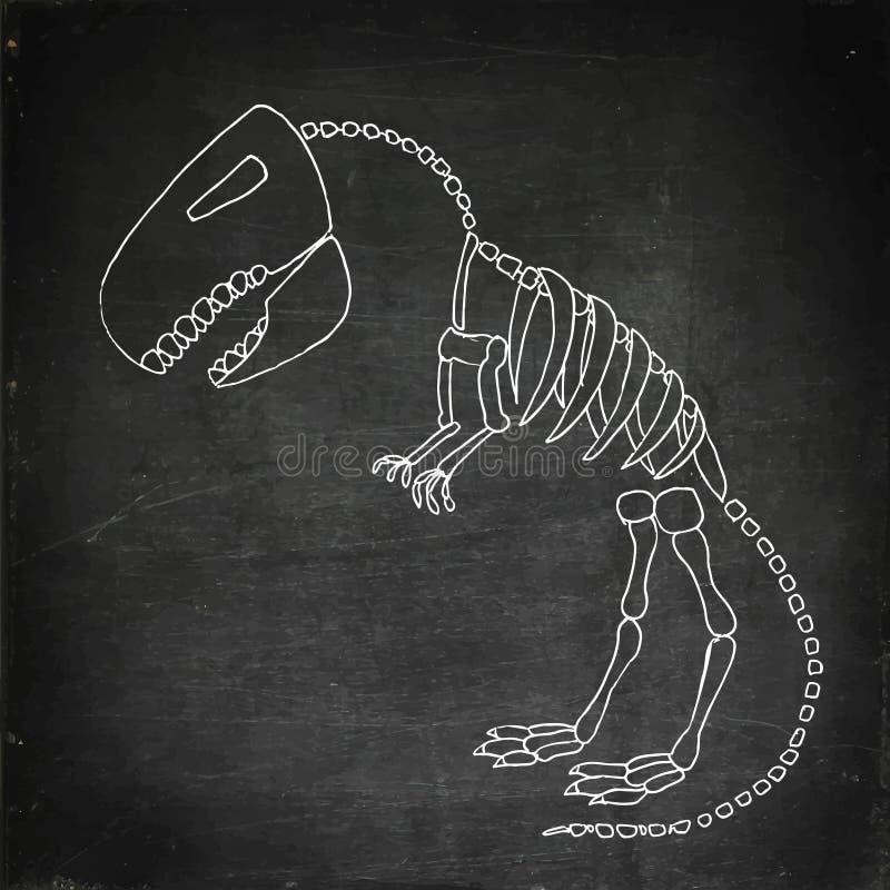 Tyrannosaurus rex Fossil vektor abbildung