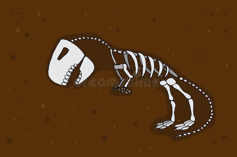 Tyrannosaurus rex Fossil lizenzfreie abbildung
