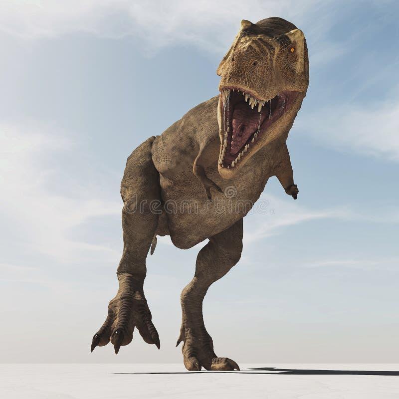 Tyrannosaurus Rex. This is a 3d render stock illustration