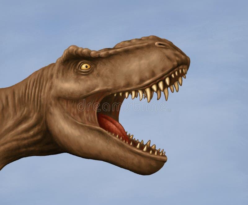 Tyrannosaurus rex head stock images