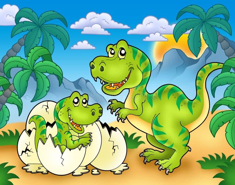 Download Tyrannosaurus Rex In Landscape Stock Illustration - Image: 15156112