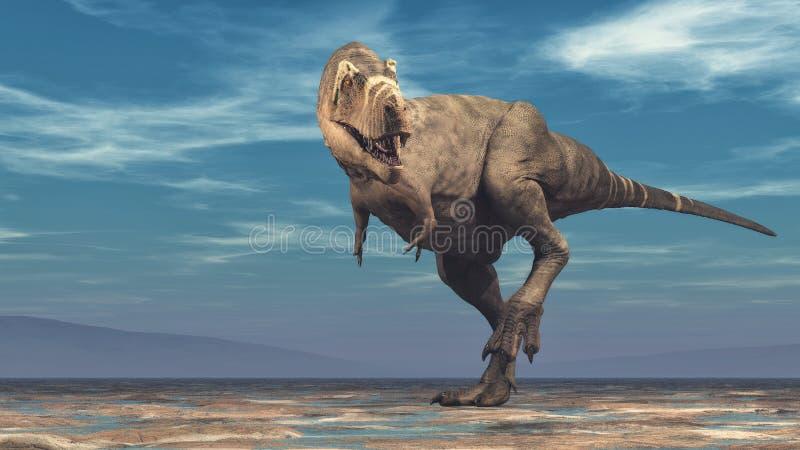 Tyrannosaurus rex na białym tle royalty ilustracja