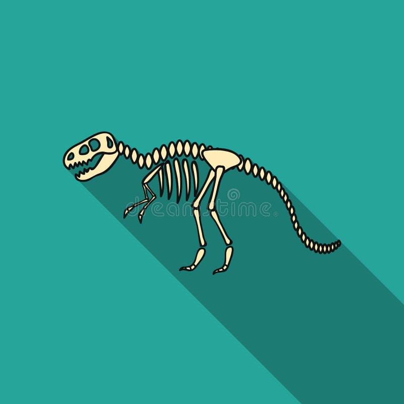 Tyrannosaurus rex pictogram in vlakke stijl op witte achtergrond De voorraad vectorillustratie van het museumsymbool royalty-vrije illustratie